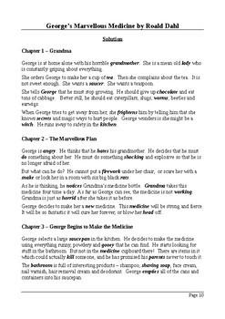 George's Marvellous Medicine - Plot Summary Cloze Tests