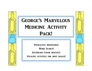 George's Marvelous Medicine Actitivity Pack! Bookmarks, Word Search and More!