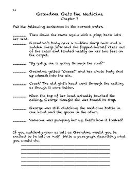George's Marvelous Medicine Activity Book.