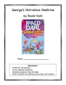 George's Marvelous Medicine Book Club Packet