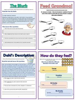 George's Marvelous Medicine Comprehension Activities Booklet!