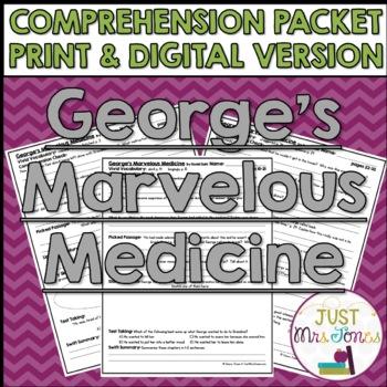 George's Marvelous Medicine Comprehension Packet