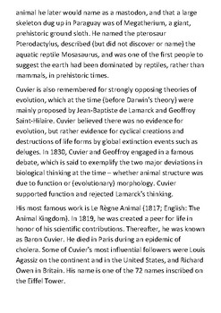 Georges Cuvier Handout