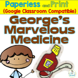 George's Marvelous Medicine Literature Packet, Google Interactive and Print