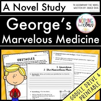 George's Marvelous Medicine Novel Study Unit: comprehension, activities, tests