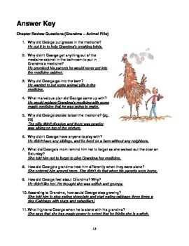 George's Marvelous Medicine  Novel Study Assessment Pack