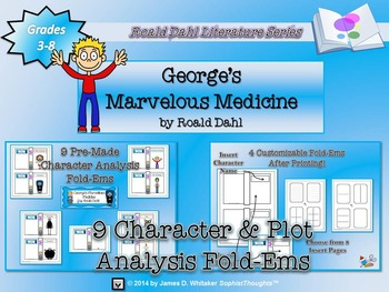George's Marvelous Medicine Roald Dahl Character & Pot Analysis Fold-Ems