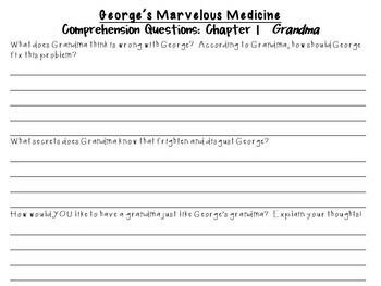 George's Marvelous Medicine by Roald Dahl: A Complete Novel Study!