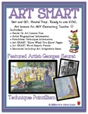 Georges Seurat & Pointillism Art SMART Lesson Plan: Art Activity & Art History!