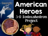 Georgia 3rd Grade- Famous Americans Dodecahedron Craft Project