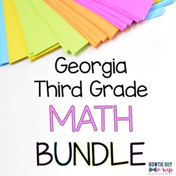 Georgia 3rd Grade Math Posters Bundle