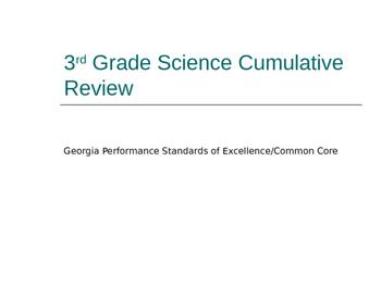 Georgia 3rd Grade Science Cumulative Review