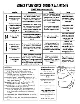 Georgia 3rd Grade Science GA MilestonesCRCT Study Guide