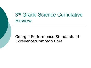 Georgia 3rd Grade Science and SS Cumulative Review Bundle