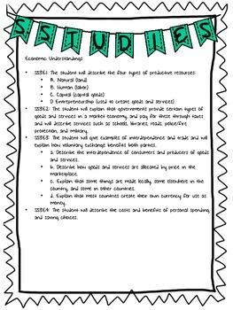 Georgia 3rd Grade Social Studies Standards List