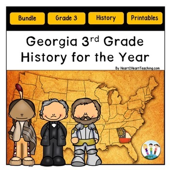 Georgia Standards of Excellence 3rd Grade SS MEGA BUNDLE (Meets new GSEs)
