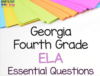 Georgia 4th Grade ELA Posters Bundle