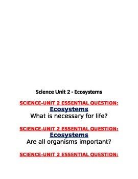 Georgia 4th Grade Science EQ units 1 to 5