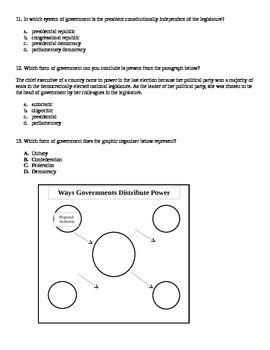 Georgia 6th & 7th Grade Government Quiz