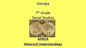 Georgia 7th Grade Standards Africa Civics Economics and History