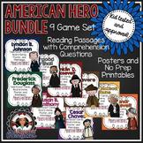 American hero bundle - Revere, Chavez, Roosevelt, Johnson, Douglass