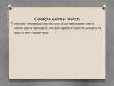 Georgia Animal Habitat Match