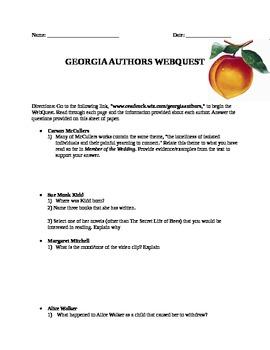 Georgia Authors Webquest