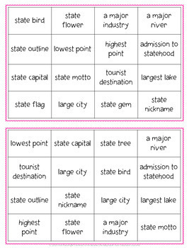 Georgia Bingo