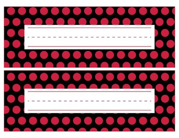 Georgia Bulldogs Inspired Red and Black Editable Name Plates/Word Wall