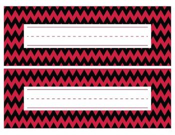 Georgia Bulldogs Inspired Red and Black Editable Name Plat