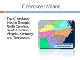 Georgia Cherokee Indians PowerPoint