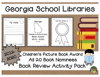 Georgia Children's Picture Book Award 2019 - 2020  Book Review Activity Pack