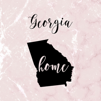 Georgia Clipart, USA State Vector Clipart, Georgia Home, Gold US Clipart