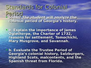 Georgia Colony Notes
