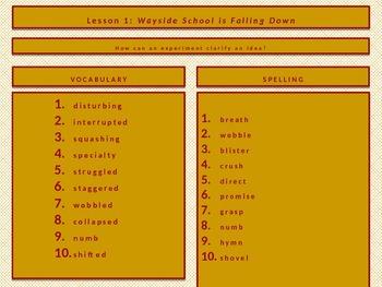 Georgia Common Core Grade 5 Journeys Unit 1 Spelling and Vocabulary Words