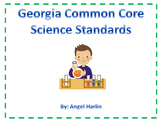 Georgia Common Core Science I Can Statements