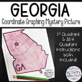 Georgia Coordinate Graphing Picture First Quadrant & ALL Four Quadrants