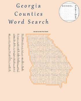 Georgia Counties Word Search