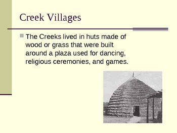 Georgia Creek Indians PowerPoint