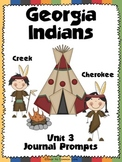 Georgia Creek and Cherokee Indian Journal Prompts