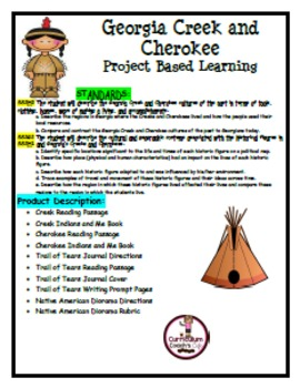 Georgia Creek and Cherokee Project Based Learning