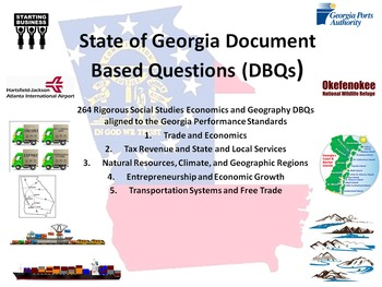 Georgia Economics and Geographic Regions DBQs - 264 DBQs and 5 Different Topics