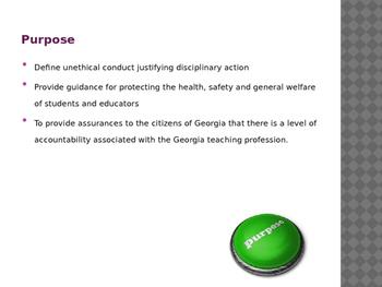 Georgia Educators Code of Ethics Power Point