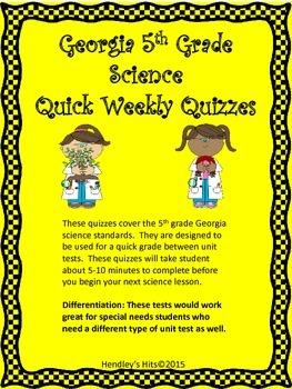 Georgia Fifth Grade Science Quizzes