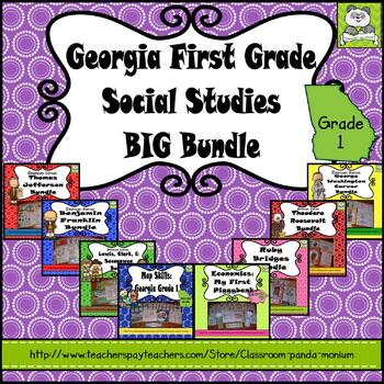 Georgia First Grade Historical Figures BIG Bundle (Meets New GSE's)