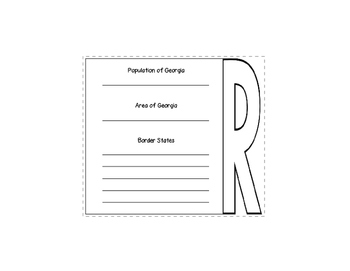 State of Georgia Geography Layered Book