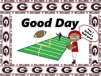 Georgia Football Behavior Clip Chart