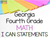 Georgia Fourth Grade Math GSE Standards Posters Bundle