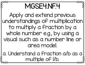 Georgia Fourth Grade Math GSE Standards Posters Bundle