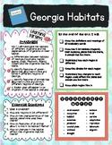 Georgia GA Habitats Regions 3rd Grade Unit Road Map